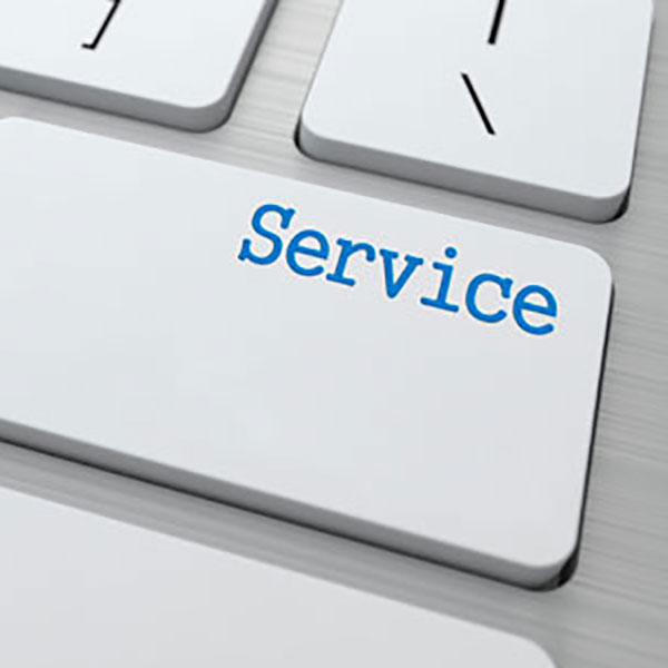 Service keyboard graphic