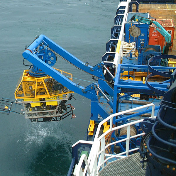 ROV Being Launched