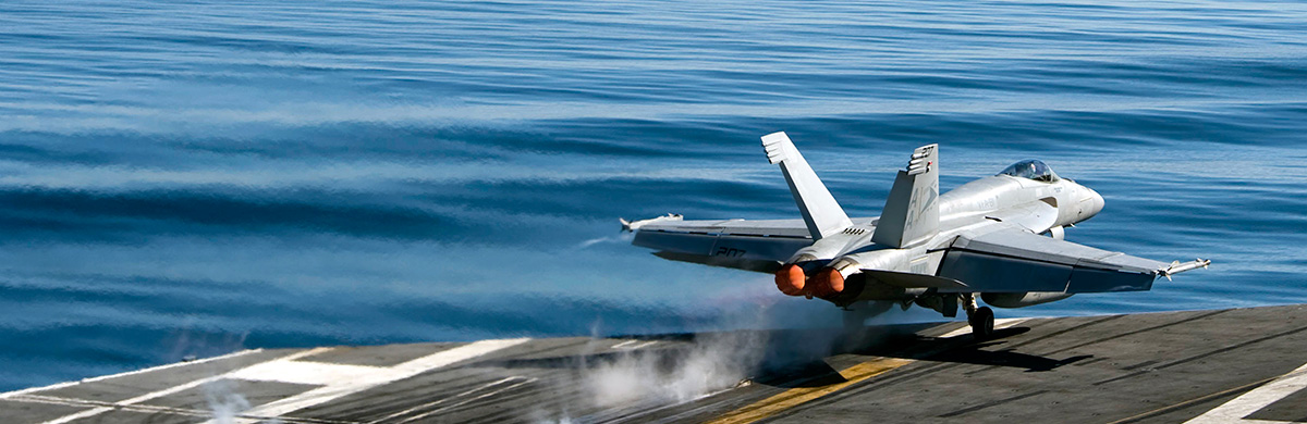 Fighter Jet on Aircraft Carrier