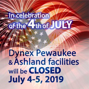 Dynex Closed July 4th